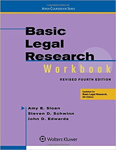 Basic legal research workbook revised aspen coursebook amy e basic legal research workbook revised aspen coursebook amy e sloan 9781454850410 amazon books fandeluxe Choice Image