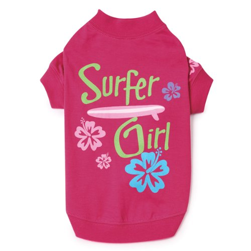 Casual Canine Polyester/Cotton Surf's Up Dog Tee, Suffer Girl, Medium, 16-Inch, My Pet Supplies