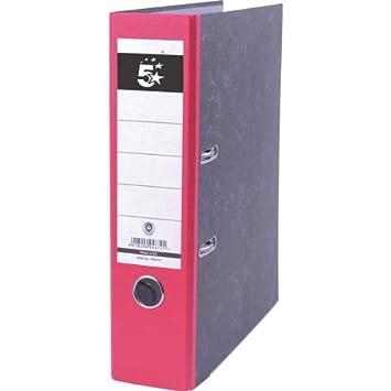 5 Star 794672 - Archivador A4, lomo 80 mm, color rojo: Amazon.es: Oficina y papelería