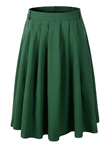 1950s-Vintage-Rockabilly-Swing-Pleated-Skirt