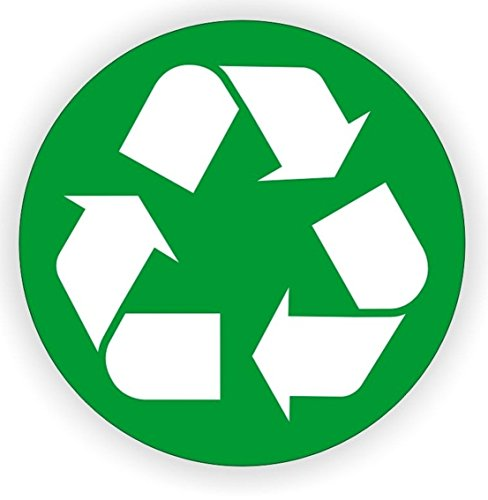 1 Pc Finest Popular Recycle Logo Vinyl Sticker Hard Hat Decals Earth Recycled Helmet Label Size 2