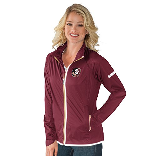 NCAA Florida State Seminoles Women's Batter Light Weight Full Zip Jacket, Medium, (Garnet Florida State Seminoles Jacket)