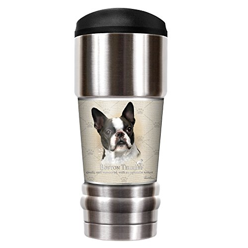 Howard Robinson Boston Terrier - 18oz Vacuum Insulated Travel Tumbler