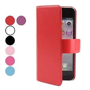 conseguir PU funda de piel con ranura para tarjeta para el iPhone 5 (colores surtidos) , Rose