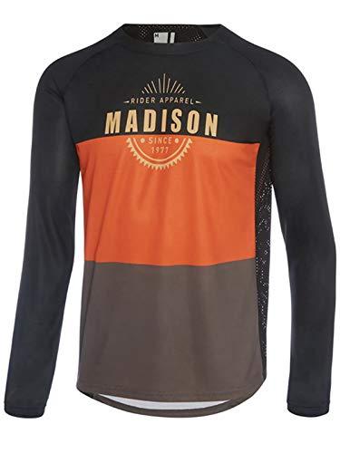 - Madison Black-Rust Alpine Long Sleeved MTB Jersey (XL, Black)