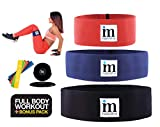Insane Move Multi- Functional Fitness & Sports Training Set Different Resistance Level Workout Bands - 3 Hip Bands & 5 Latex Bands Plus 2 Core Sliding Discs – Ideal Training Bands Men & Women