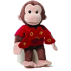 """Gund Curious George Valentines Day Plush, 10"""""""