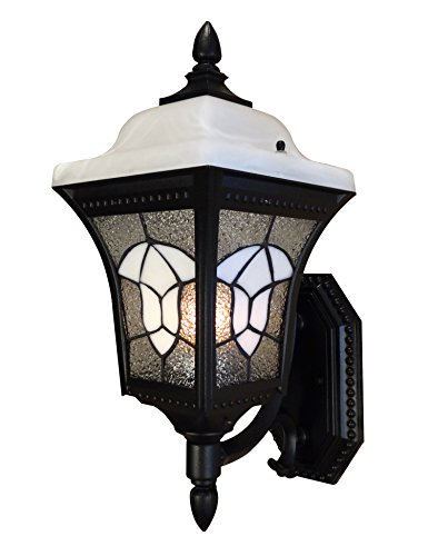 Mailbox Blk Wall (Special Lite Products Abington F-2987-BLK Medium Bottom Mount Light, Black)