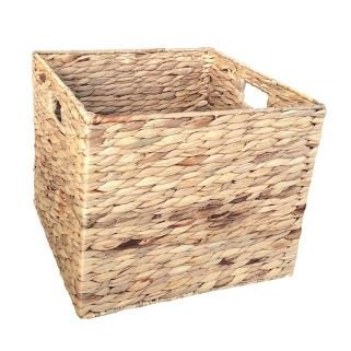 Small Water Hyacinth Square Storage Basket by Red Hamper