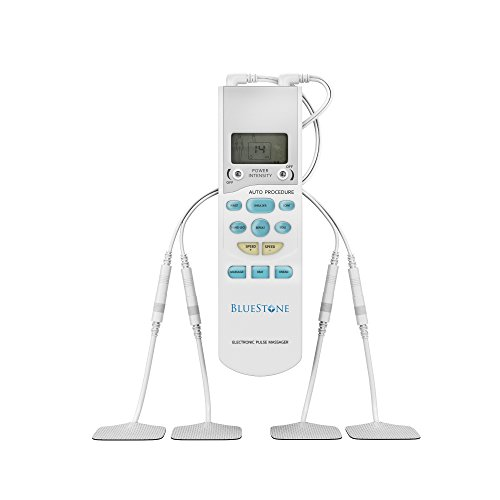 Tens Muscle Stimulator Unit- Digital Display Pulse Massager for Back and Knee Pain Relief, Physical Electro Therapy or Rehabilitation by Bluestone