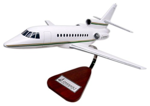 Falcon 900EX Wood Model Airplane