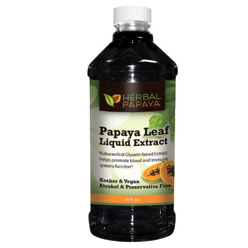 Papaya Leaf (Pawpaw Twig Cell Regulator) Extract Liquid - 16oz, 100% Preservative and Alcohol Free By Herbal Papaya by Herbal Papaya