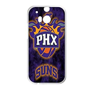 Phoenix Suns NBA White Phone Case for HTC One M8