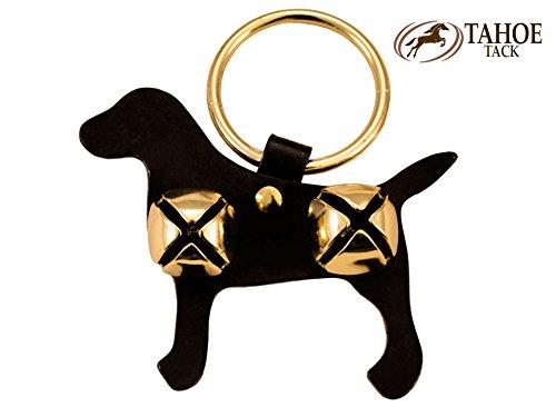 Tahoe Tack Sleigh Bell Door Hanger Labrador Dog Shape- 2 Bells (Sleigh Shape)