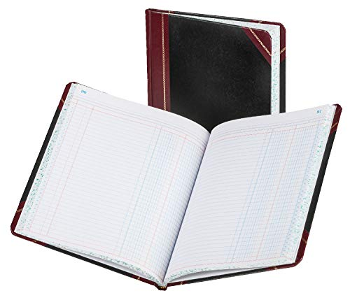 Boorum & Pease Bound Columnar Book, 2-Column, 1 Page Form, 150 Pages, 10-3/8 x 8-1/8 (21-150-2)