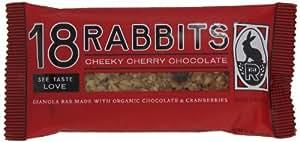 18 Rabbits Cheeky Cherry Chocolate, Organic Granola bar, 1.9-Ounce Bars (Pack of 12)
