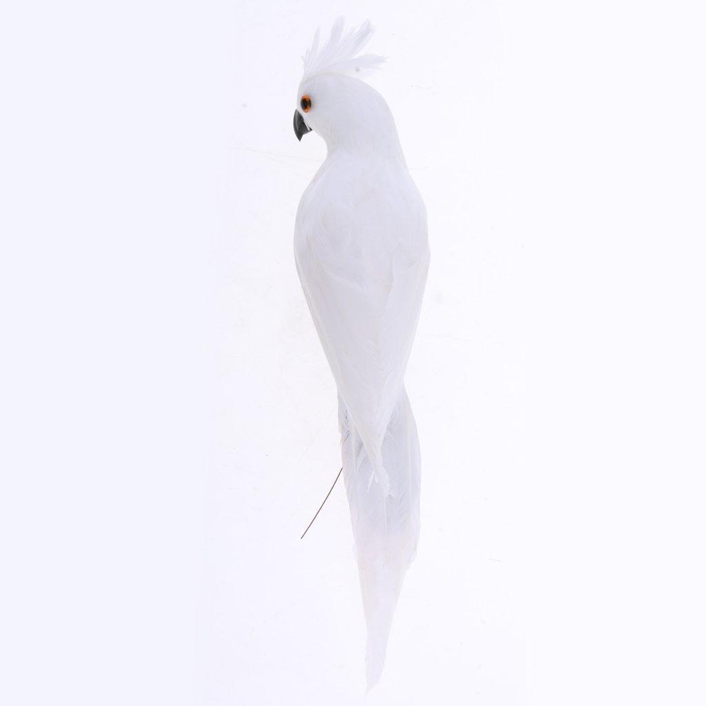 SM SunniMix 2 St/ü Macaw Papagei Gartenfigur Dekofigur Wei/ß Rot