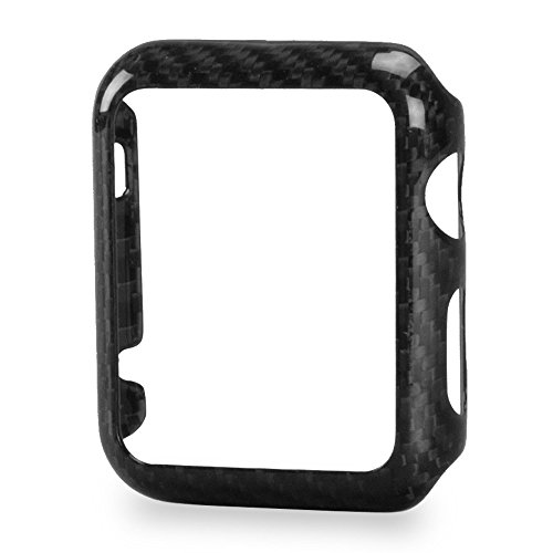 Apple Watch Series 1 42mm Case - 100% Real Carbon Fiber - High-Gloss / Twill Weave Finish - by Carbon Fiber Gear - Fibre Case