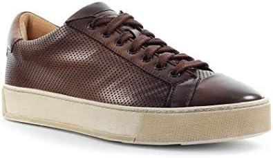 Santoni Luxury Fashion Homme MBGL21066SPOMFGOS50 Marron Cuir Baskets | Automne-Hiver 20