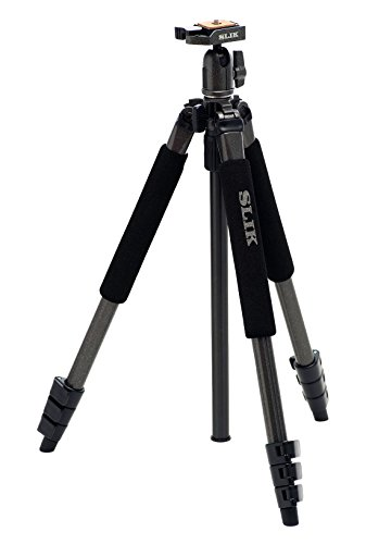 SLIK Sprint Pro II GM Tripod with Ballhead - Supports 4.5 lbs (2kg), Gunmetal (611-849) by Slik