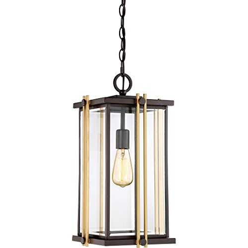 Quoizel Hanging GLD1910WT One Light Outdoor Lantern, Large, Western Bronze ()