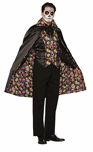 Forum Men's Day Of The Dead Cape, Multi, One -