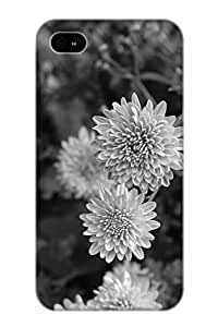 New Arrival Case Specially Design For Iphone 4/4s (Black N White Flowers)