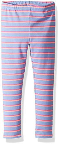 Osh Kosh Girls' Kids Full Length Legging, Orange Stripe, 7 ()