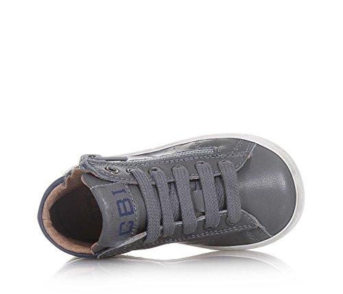 CIAO BIMBI - Zapatilla de cordones gris de cuero, curada en todos los detalles y capaz de combinar estilo, Niño, Niños