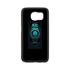 Alice In Chains Samsung Galaxy S6 Cell Phone Case White phone component AU_605744