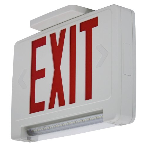 Red Led Hardwired Exit Light - 7