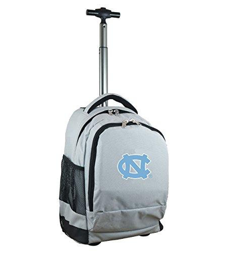 Denco NCAA North Carolina Tar Heels Expedition Wheeled Backpack, 19-inches, Grey