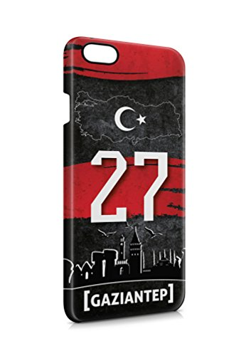 3D iPhone 8 PLUS Gaziantep 27 Plaka Türkiye Hard Tasche Flip Hülle Case Cover Schutz Handy