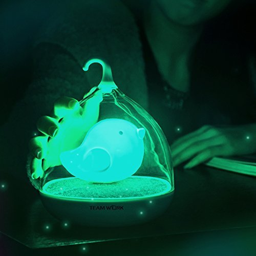 Berry President® Children's Night Lights Hand-held Design Touch Sensor Vibration Birdcage Lamp Bird Night Lights - Charging - For Kids, Baby ,Valentines Gift,outdoor Lamp (Blue)
