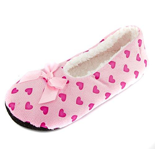 Slippers Love Pink Heart Leisureland Design Women's Cozy 8PxqWWUwE