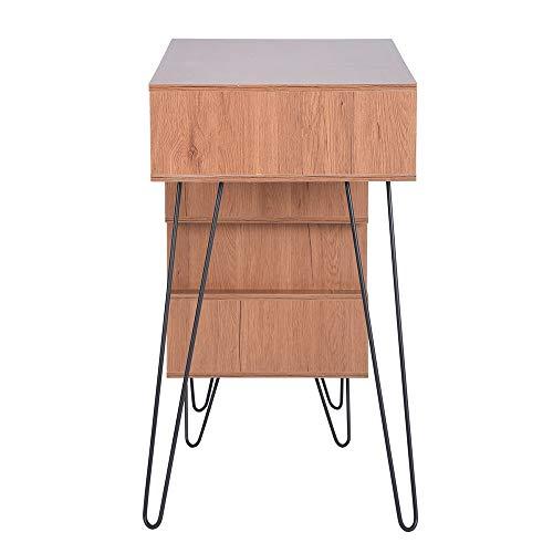 Aingoo Writing Desk, Modern Computer Desk with Bookshelf Efficient Space Storage Workstation by Lingoes (Image #4)