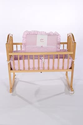 Baby Doll Bedding Gingham With Rocking Horse Applique Cradle Bedding Set Lavender from Baby Doll Bedding