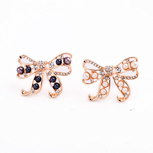 Simple sweet factory outlets European and American fashion jewelry pearl diamond bow brooch - Outlet Of Pearl Ms