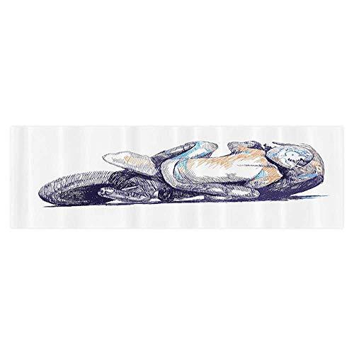 UHOO2018 Background Fish Tank Sticker Sketchy of Motorbike Racer nding Down to The Route Performer Winner Aquarium Sticker Wallpaper Decoration 23.6