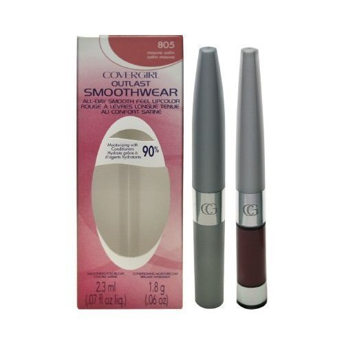 (Pack 2) Cover Girl Outlast Smoothwear All-day Smooth Feel Lipcolor 805 Mauve Satin