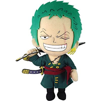 "Great Eastern Animation GE-52803 One Piece 9"" Roronoa Zoro Stuffed Plush: Toys & Games"
