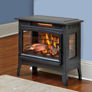 Duraflame 3D Infrared Electric Fireplace Stove with Remote Control - Portable Indoor Space Heater - DFI-5010 (Black) by Duraflame Electric
