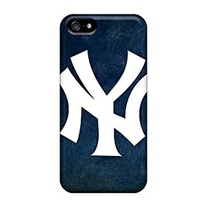 Scratch Protection Hard Phone Case For Iphone 5/5s With Custom HD Ny Yankees Skin LisaSwinburnson