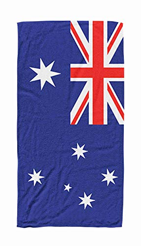 Shorping Kids,Baby,Women and Men Beach Towels Australia Flag 30x60 Inch Large Pool Towels for Body Bath,Swimming,Travel,Camping,Sport,Blue Red 4 (Best Bath Towels Australia)