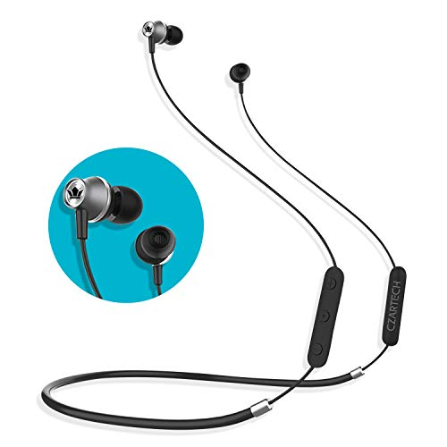 CZARTECH Acoustics CW530BT Neckband Wireless Bluetooth Earphones with Mic, Bluetooth Headset Compatible with All Mobile Phones