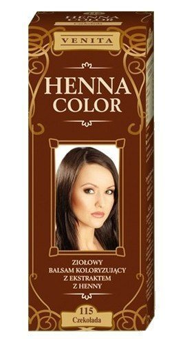 Henna Color 115 Chocolate Bálsamo Capilar Tinte Para Cabello Efecto De Color Tinte De Pelo Natural Gallina Eco Venita