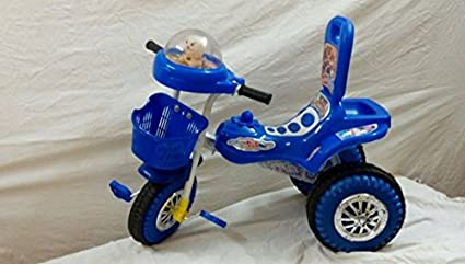 f84a41407b1 Image Unavailable. Image not available for. Colour: Chinar Three wheeler  kids bicycle with musical hood Suitable ...