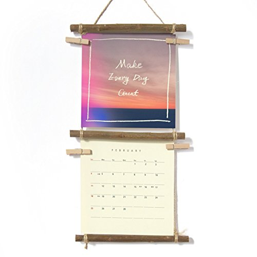 Cloud and Sky, 2018 Wall Calendar With handmade Ladder Shelf - Stocking Stuffer, Quote Print Calendar, Gifts for Dad, Mom, Friends, by IGREANpainting