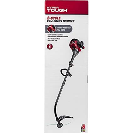 Amazon.com : Hyper Tough Curved Shaft Gas Grass String Trimmer, 2-Cycle 25cc : Garden & Outdoor