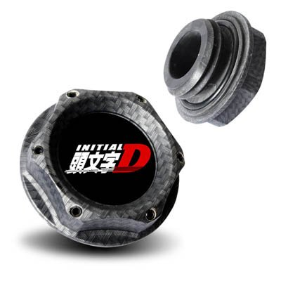 Mazda Initial D Aluminum Billet Engine Oil Cap Carbon Looks RX-7 RX-8 MX-3 MX-6 Miata 3 6
